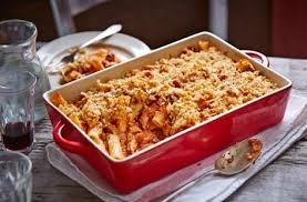 tomato and rosemary rigatoni pasta bake
