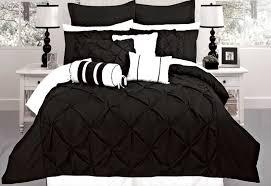 super king size black diamond pintuck quilt cover set 3pcs