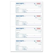 Book Receipt Format Template Template Of Receipts 20