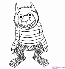Small Picture Where The Wild Things Are Coloring Page Free Coloring Home