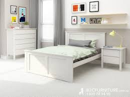 kids bed side view. Whitewash Kids King Single Bed \u2013 Fantastic Timber Side View L