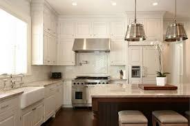 white french country kitchen ideas with white ceramic herringbone backsplash design