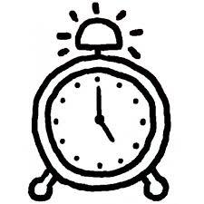 Disegno Di Orologio Sveglia Da Colorare Per Bambini