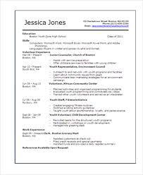 Resume Template For Teens 15 Teenage Resume Templates Pdf Doc Free