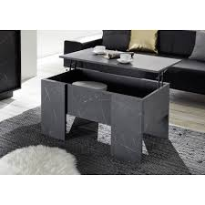 carrara coffee table with lifting top