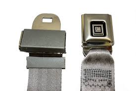 seat belt lap belt with chrome silver gm push on style buckle many