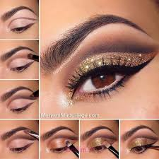 glittery smokey cat eye makeup tutorial