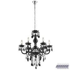 Hänge Leuchte Kronleuchter Fernbedienung Decken Lampe Schwarz Im Set Inklusive Rgb Led Leuchtmittel