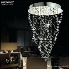 modern spiral chandelier modern spiral crystal chandelier light fixture long crystal light lamp flush mounted stair