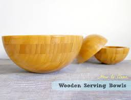 picture of how to clean wooden serving bowls