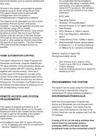 globalguard alarm system hisk1 pdf the system can be operated from one or more accessory remote control units and or