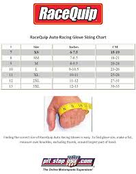 Sizing Chart Racequip Auto Racing Gloves