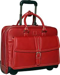 clark mayfield stafford leather rolling laptop bag
