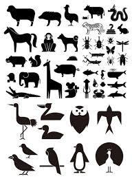 干支十二支を含むシンプルな動物の無料ベクターシルエット素材49種類