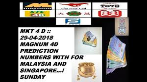 4d Chart Prediction Mkt 4 D 29 04 2018 Magnum 4d Prediction Chart With Numbers For Sunday Malaysia And Singapore 4d
