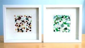sea glass wall art and what is without an arty white canvas frames hangings quilted stained