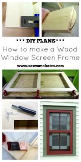 have a broken or missing window screen make your own with this diy plan