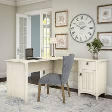 l shaped desk for home office. Maison Rouge Lucius Antique White L-shaped Storage Desk L Shaped Desk For Home Office