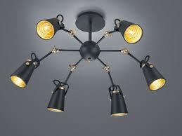 Mit Schwarz In Metall Wohnzimmer Für Deckenlampe Led 6 Aus