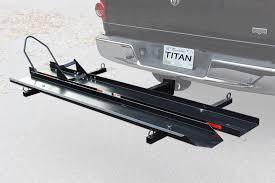 carrier ramp. titan heavy-duty steel motorcycle carrier - 600 lb capacity ramp