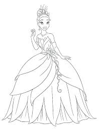 princess tiana coloring pages page to print waving hand in and the frog free printable