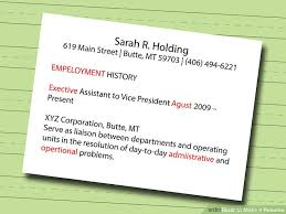 Create Resume Free Extraordinary 48 Ways To Make A Resume WikiHow