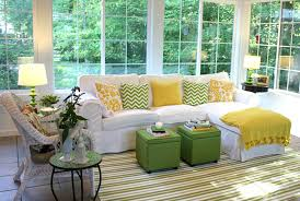 Decorations  Enthralling Summer Theme For Living Room Using Yellow Themed Living Room