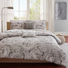 madison park pure ronan  piece cotton comforter set  ebay