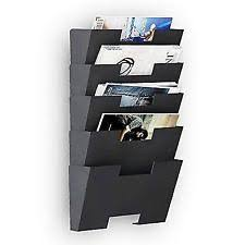 newspaper rack for office. Hanging Wall File Folder Steel Magazine Newspaper Rack Holder Cascading For Office