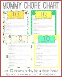 Free Printable Household Chores Checklist Of A Mommy Chore Chart