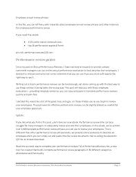 Employee Performance Letter Sample Employee Evaluation Letter Sample For Student Template