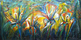 Resultat d'imatges de flores abstractas al oleo