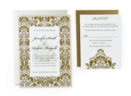 Wedding Invitation Card Template Damask Free Wedding Invitation Template