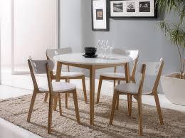 modern white round dining table set for 4 eva furniture modern round dining room table best