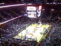 Cleveland Cavailers Upper Seats Cavaliersseatingchart
