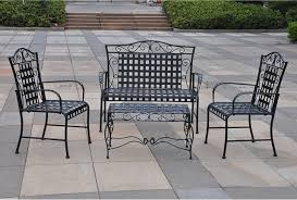modern iron patio furniture. Modern Outdoor Wrought Iron Patio Furniture With Table