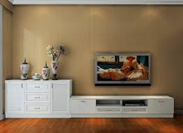 Living Room Cabinet South Korean Style Fresh Living Room With White Tv Cabinet And