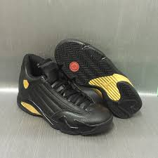 jordan shoes retro 14. air jordan 14 retro black gold mens jordans 14s basketball shoes aaa grade sd42