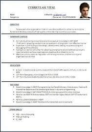 Format For Curriculum Vitae Mesmerizing Curriculum Vitae Model Curriculum Vitae Example From Resume Cv