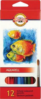 """<b>Карандаши цветные</b> акварельные <b>Koh</b>-i-<b>Noor</b> """"<b>Fish</b>"""", 12 цветов ..."""