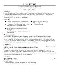Sample Special Education Teacher Resume Printable Education On Re