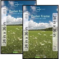 Large Prints Cheap Mainstays 24x36 Basic Poster Picture Frame Black Set Of 2