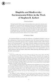 work philosophy example biophilia and biodiversity environmental ethics in the work of