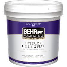 white ceiling paintBEHR Premium Plus 2 gal White Flat Ceiling Interior Paint55802