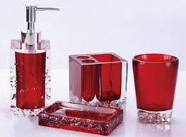 Small Picture Ideas About Red Bathroom Accessories On Pinterest Red Red
