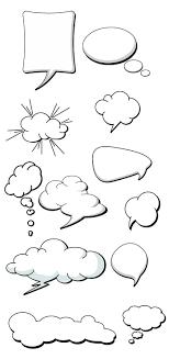 アメコミ風の吹き出しの無料イラストaiepsの無料イラストレーター