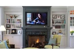 safely mount a flat screen television above a fireplace mantle