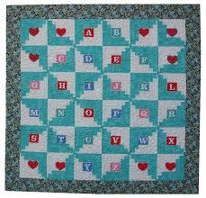 777 best Log Cabin Blocks & Quilts images on Pinterest | Log ... & Alphabet Log Cabin Handmade Baby Quilt 51x51 Adamdwight.com
