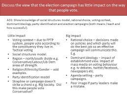 voting behaviour essay plans peer marking to what extent is the discuss the view that the election campaign has little impact on the way that people vote