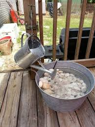 homemade outdoor water fountains